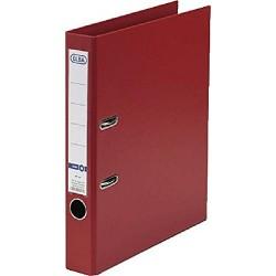 Biblioraft A4, plastifiat PP/PP, margine metalica, 50 mm, ELBA Smart Pro - rosu