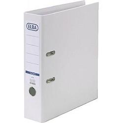 Biblioraft A4, plastifiat PP/PP, margine metalica, 80 mm, ELBA Smart Pro - alb