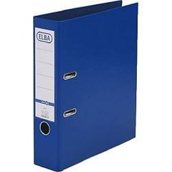 Biblioraft A4, plastifiat PP/PP, margine metalica, 80 mm, ELBA Smart Pro - albastru