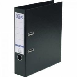 Biblioraft A4, plastifiat PP/PP, margine metalica, 80 mm, ELBA Smart Pro - negru