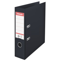 Biblioraft Esselte No.1, PP, 75 mm, negru