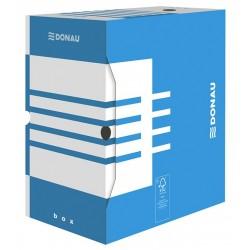 Cutie arhivare 155mm, carton 390gsm, DONAU - albastru/alb