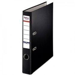 Biblioraft A4, plastifiat PP/paper, margine metalica, 50 mm, Optima Basic - negru