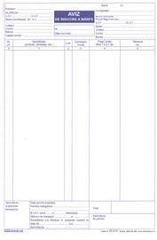 Aviz de insotire a marfii, autocopiativ, A4, 50 file, 3 exemplare, 3 bucati/set