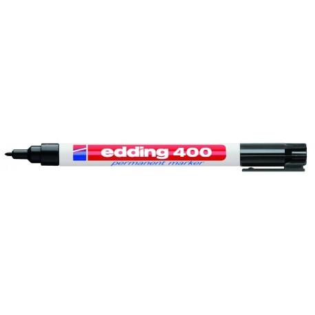 Marker permanent Edding 400, 1 mm, negru