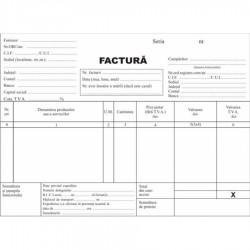 Facturier, A5, autocopiativ , 3 exemplare, alb/color/color, fata, 50 seturi/carnet