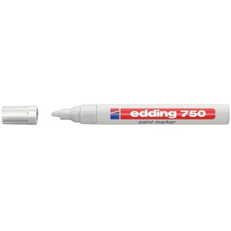 Paint marker Edding 750, varf rotund, 2 - 4 mm, alb