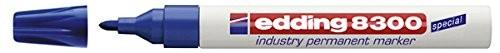 Marker permanent Edding 8300 Industrial, varf rotund, 1.5 - 3 mm, albastru