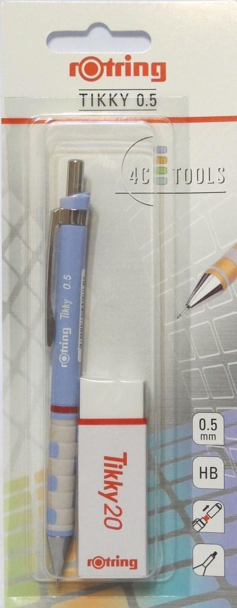Set Rotring(creion mecanic Tikky III Original, 0.5 mm + radiera Tikky 20)