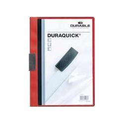 Dosar cu clip Duraquick, 20 coli, rosu