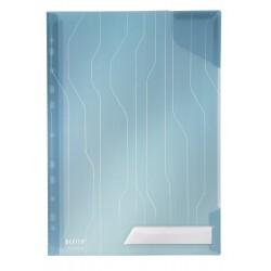 Mapa cu eticheta, 5 buc/set, LEITZ Combi File - transparent albastru