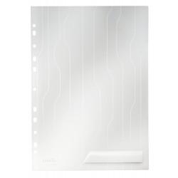 Mapa LEITZ Combi File, cu eticheta, PP, A4, 200 mic, 5 buc/set - transparent