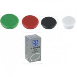 Magneti 13mm, 10/cutie, ALCO - rosu