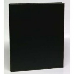 Caiet mecanic 2 inele - D25mm, coperti carton plastifiat PVC, A4, AURORA - negru