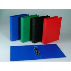 Caiet mecanic 2 inele - D25mm, coperti carton plastifiat PVC, A5, AURORA - rosu