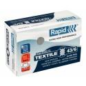 Capse RAPID 43/6G textile, 10.000 buc/cutie - pentru capsator RAPID Classic K1 Textile
