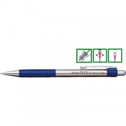 Creion mecanic metalic PENAC Pepe, rubber grip, 0,5mm, varf metalic - accesorii bleumarin