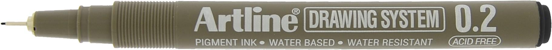 Marker pentru desen tehnic ARTLINE, varf fetru 0.2mm - negru