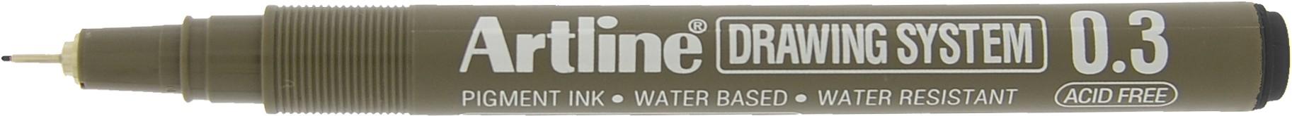 Marker pentru desen tehnic ARTLINE, varf fetru 0.3mm - negru