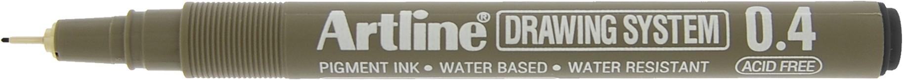 Marker pentru desen tehnic ARTLINE, varf fetru 0.4mm - negru