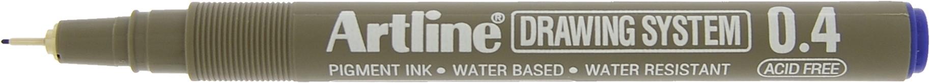 Marker pentru desen tehnic ARTLINE, varf fetru 0.4mm - albastru