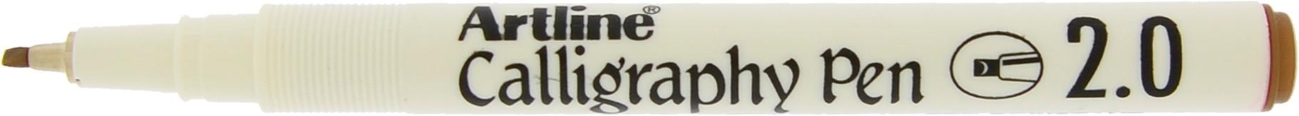 Marker ARTLINE Calligraphy, varf tesit din fetru 2.0mm - maro