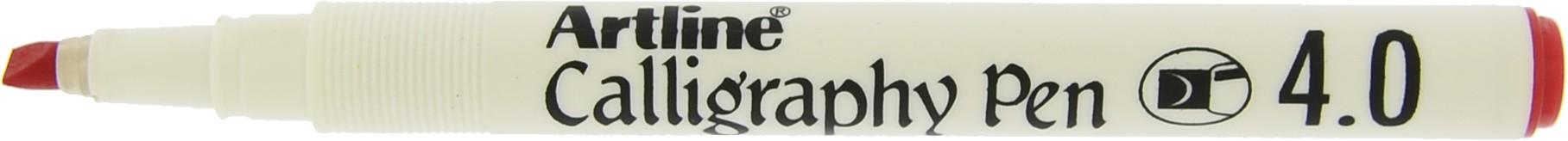 Marker ARTLINE Calligraphy, varf tesit din fetru 4.0mm - rosu