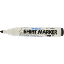 T-Shirt marker ARTLINE, corp plastic, varf rotund 2.0mm - negru
