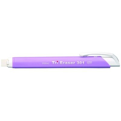 Radiera mecanica PENAC Tri Eraser, triunghiulara, 100% cauciuc - corp violet pastel