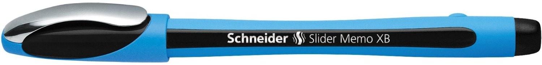 Pix SCHNEIDER Slider Memo XB, rubber grip, accesorii metalice - scriere neagra