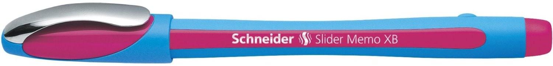 Pix SCHNEIDER Slider Memo XB, rubber grip, accesorii metalice - scriere roz