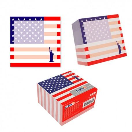 "Cub notes autoadeziv 70 x 70 mm, 400 file, Stick""n USA - alb"