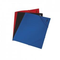 Mapa din plastic cu elastic, A4, albastru