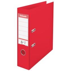 Biblioraft ESSELTE No. 1 Power, A4, plastifiat PP/PP, margine metalica, 75 mm - rosu