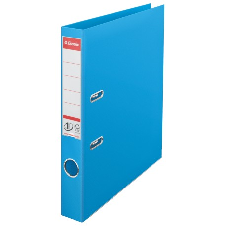 Biblioraft Esselte No.1, PP, 50 mm, albastru deschis