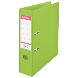 Biblioraft ESSELTE No. 1 Power, A4, plastifiat PP/PP, margine metalica, 75 mm - Vivida verde