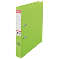 Biblioraft ESSELTE No. 1 Power, A4, plastifiat PP/PP, margine metalica, 50 mm - Vivida verde