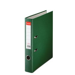 Biblioraft A4, plastifiat PP, margine metalica, 50 mm, ESSELTE Economy - verde