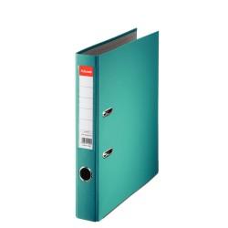 Biblioraft A4, plastifiat PP, margine metalica, 50 mm, ESSELTE Economy - turcoaz