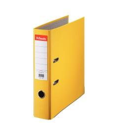 Biblioraft A4, plastifiat PP, margine metalica, 75 mm, ESSELTE Economy - galben