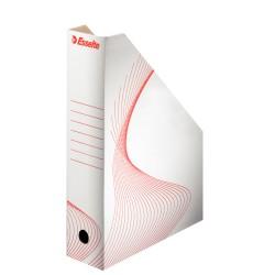 Suport vertical ESSELTE Standard pentru cataloage, din carton - alb