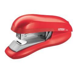 Capsator plastic RAPID F30, 30 coli, capsare plata - rosu deschis