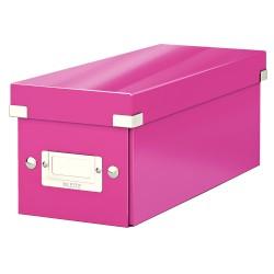 Cutie Leitz Click & Store pentru CD-uri, roz