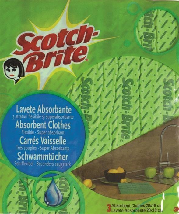 Lavete absorbante Scotch-Brite, 5 bucati/set