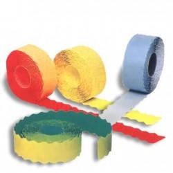 Etichete autoadezive pentru marcatoare, 26 x 12 mm, 1500 bucati/rola, galben fluorescent