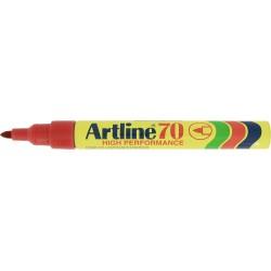 Permanent marker ARTLINE 70, corp metalic, varf rotund 1.5mm - rosu
