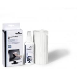 Set curatare ecran/monitor Durable Screenclean, contine spray 125 ml + 22 servetele uscate