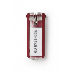 Suport eticheta pentru chei Durable, 6 bucati/set, rosu