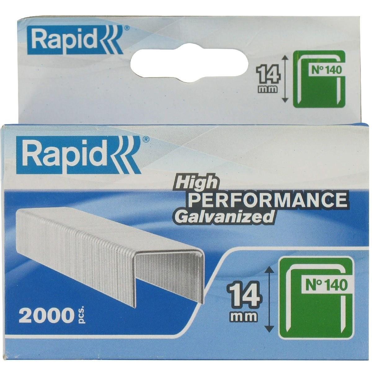 Capse RAPID 140/14, 2000 buc/cutie - pentru pistol de capsat RAPID