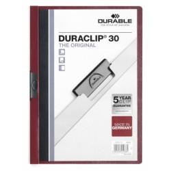 Dosar Durable Duraclip Original, 30 coli, rosu